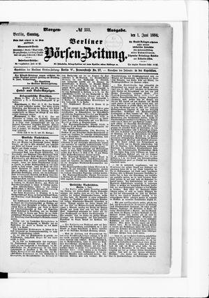 Berliner Börsen-Zeitung vom 01.06.1884