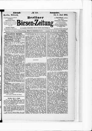 Berliner Börsen-Zeitung vom 04.06.1884