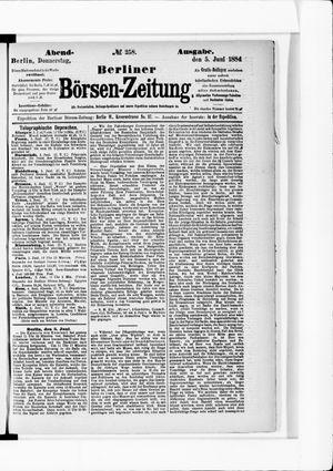 Berliner Börsen-Zeitung vom 05.06.1884