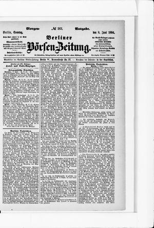 Berliner Börsen-Zeitung vom 08.06.1884