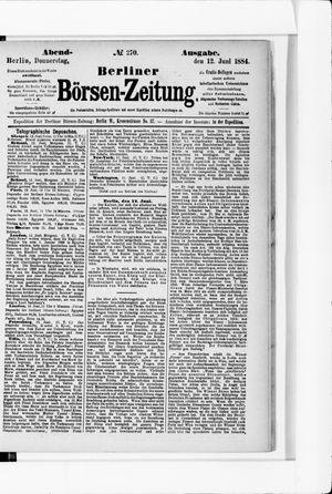 Berliner Börsen-Zeitung vom 12.06.1884