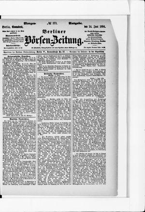 Berliner Börsen-Zeitung vom 14.06.1884