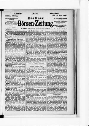 Berliner Börsen-Zeitung vom 20.06.1884
