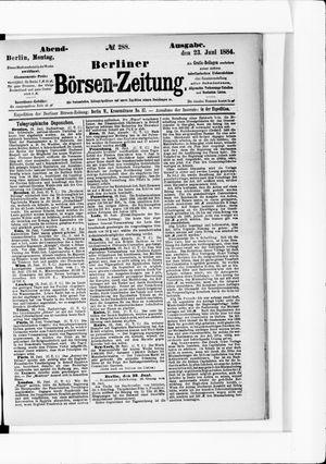 Berliner Börsen-Zeitung vom 23.06.1884