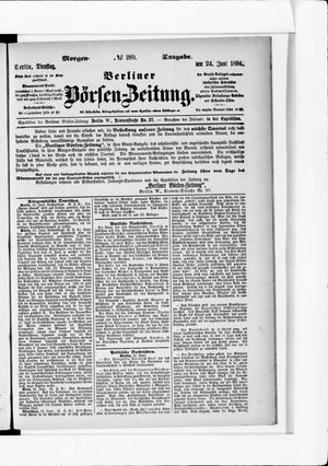 Berliner Börsen-Zeitung vom 24.06.1884