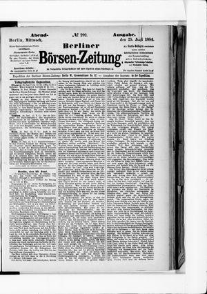 Berliner Börsen-Zeitung vom 25.06.1884