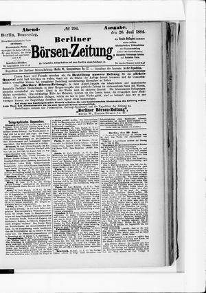 Berliner Börsen-Zeitung vom 26.06.1884