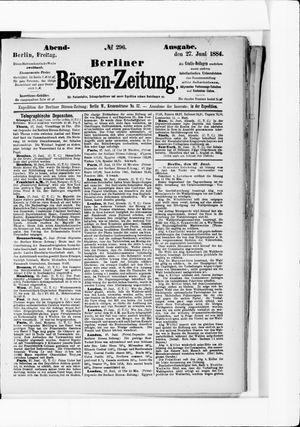 Berliner Börsen-Zeitung on Jun 27, 1884