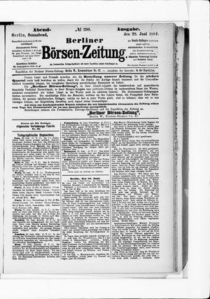 Berliner Börsen-Zeitung vom 28.06.1884