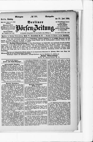 Berliner Börsen-Zeitung vom 29.06.1884