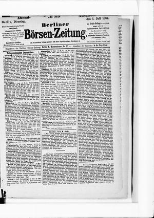 Berliner Börsen-Zeitung vom 01.07.1884