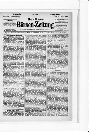 Berliner Börsen-Zeitung vom 03.07.1884