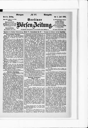 Berliner Börsen-Zeitung vom 04.07.1884