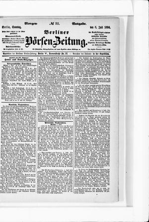 Berliner Börsen-Zeitung vom 06.07.1884