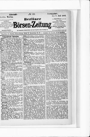 Berliner Börsen-Zeitung vom 07.07.1884
