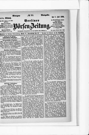 Berliner Börsen-Zeitung vom 09.07.1884