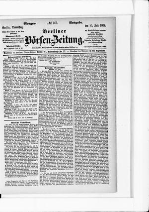 Berliner Börsen-Zeitung vom 10.07.1884