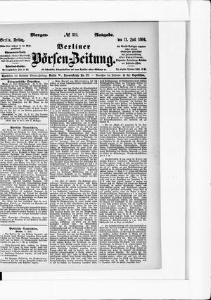 Berliner Börsen-Zeitung vom 11.07.1884