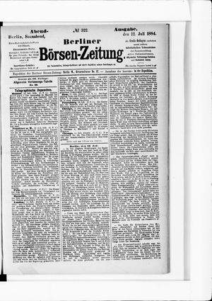 Berliner Börsen-Zeitung vom 12.07.1884