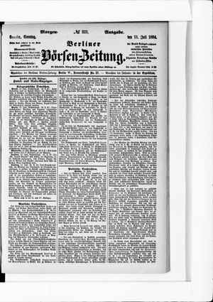 Berliner Börsen-Zeitung vom 13.07.1884