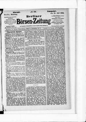 Berliner Börsen-Zeitung vom 15.07.1884