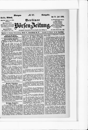 Berliner Börsen-Zeitung vom 16.07.1884