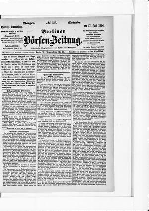 Berliner Börsen-Zeitung vom 17.07.1884