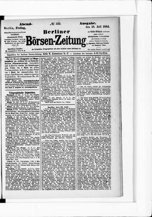 Berliner Börsen-Zeitung vom 18.07.1884