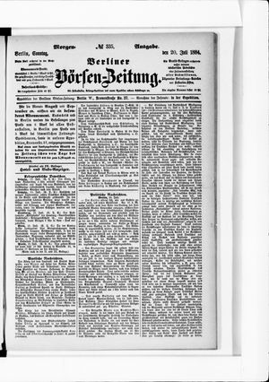 Berliner Börsen-Zeitung vom 20.07.1884
