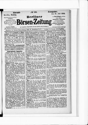 Berliner Börsen-Zeitung vom 21.07.1884
