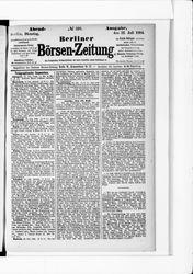 Berliner Börsenzeitung (22.07.1884)