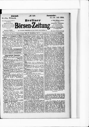 Berliner Börsen-Zeitung vom 23.07.1884