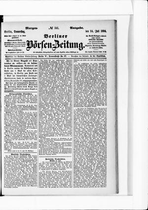Berliner Börsen-Zeitung vom 24.07.1884