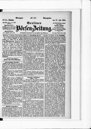Berliner Börsen-Zeitung on Jul 27, 1884