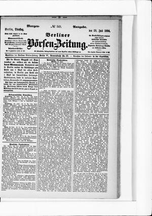 Berliner Börsen-Zeitung vom 29.07.1884
