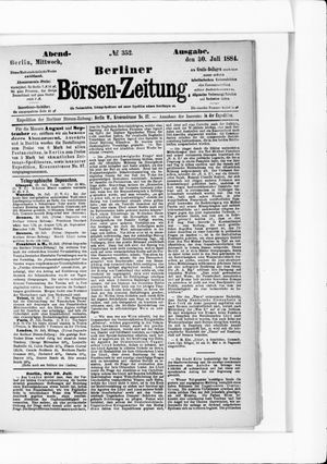Berliner Börsen-Zeitung vom 30.07.1884