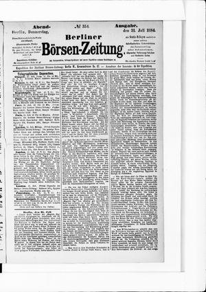 Berliner Börsen-Zeitung vom 31.07.1884