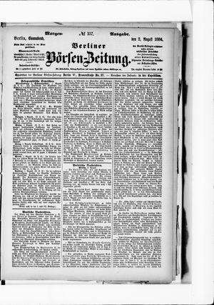 Berliner Börsen-Zeitung vom 02.08.1884