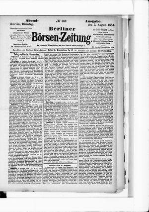 Berliner Börsen-Zeitung vom 05.08.1884