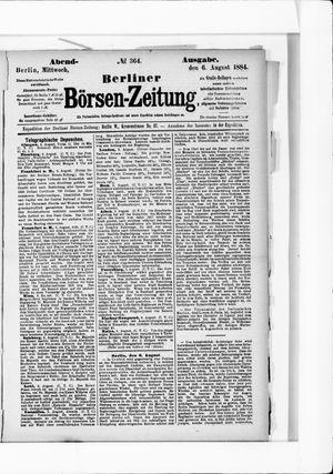 Berliner Börsen-Zeitung vom 06.08.1884