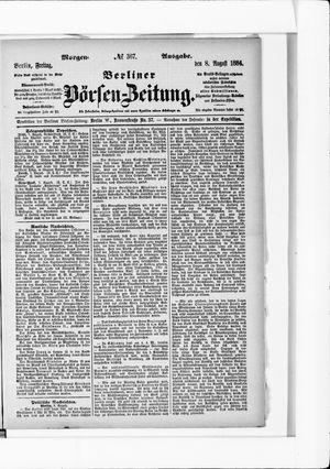 Berliner Börsen-Zeitung vom 08.08.1884