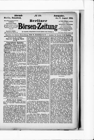 Berliner Börsen-Zeitung vom 09.08.1884