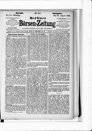 Berliner Börsen-Zeitung vom 12.08.1884