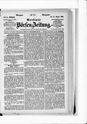 Berliner Börsen-Zeitung vom 13.08.1884