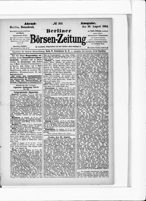 Berliner Börsen-Zeitung vom 16.08.1884
