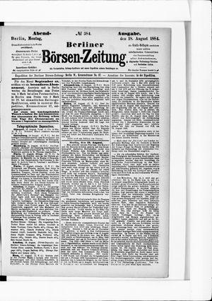 Berliner Börsen-Zeitung vom 18.08.1884