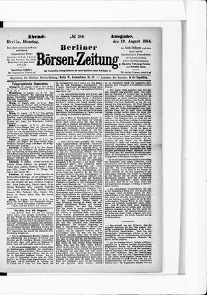 Berliner Börsen-Zeitung vom 19.08.1884