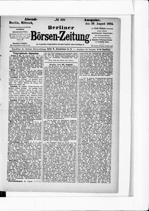 Berliner Börsen-Zeitung vom 20.08.1884