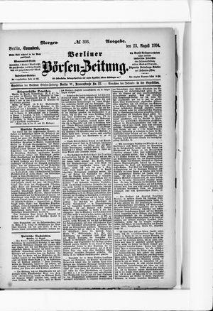 Berliner Börsen-Zeitung on Aug 23, 1884