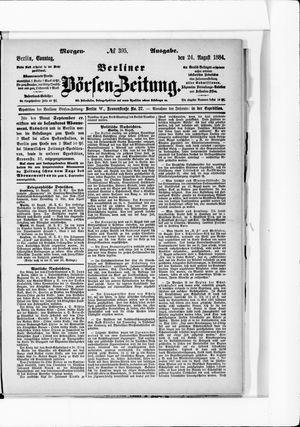 Berliner Börsen-Zeitung vom 24.08.1884